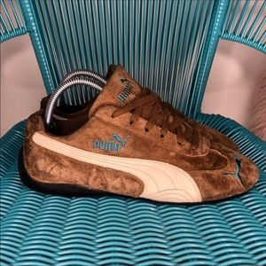 PUMA Speed Cat Womens Sz 9 Brown Suede Leather